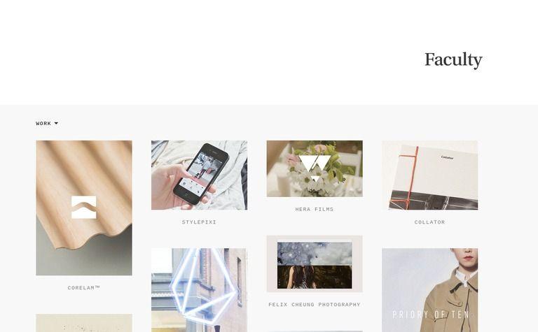 Faculty Web Design Minimal Web Design Web Design Inspiration