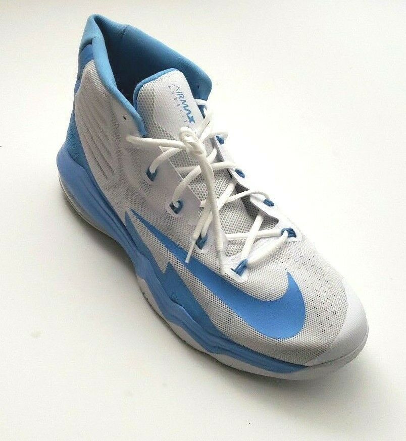 05f81fad3d4ead Nike Men's Air Max Audacity Athletic Basketball Shoes White/Baby Blue Size  18 | eBay