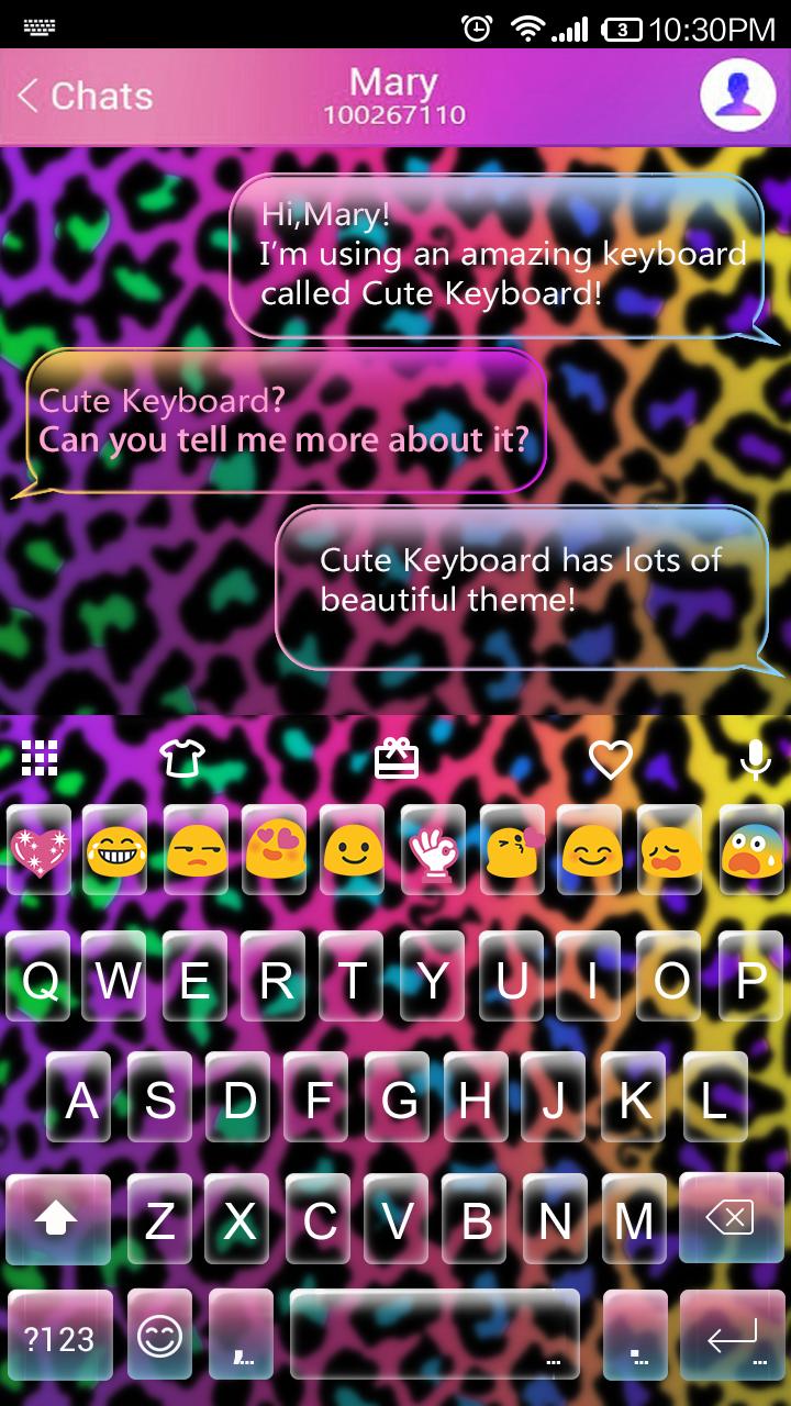 Rainbow Cheetah Emoji Keyboard Theme Cheetah Rainbow Emoji Theme Emoji Keyboard Best Emoji Keyboard Keyboard