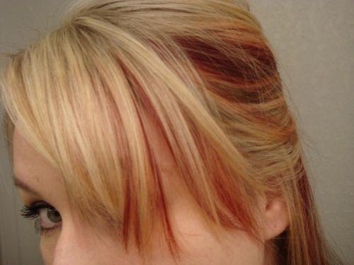 Blonde Highlighted Bangs