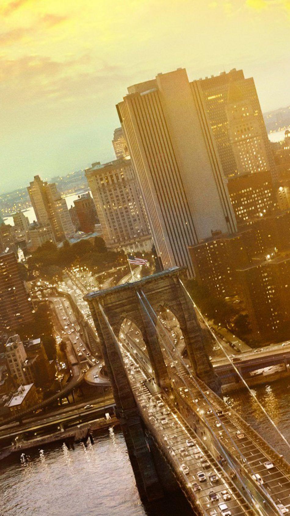 Brooklyn Bridge Cityscape New York City 4k Ultra Hd Mobile Wallpaper New York Wallpaper Brooklyn Bridge Cityscape