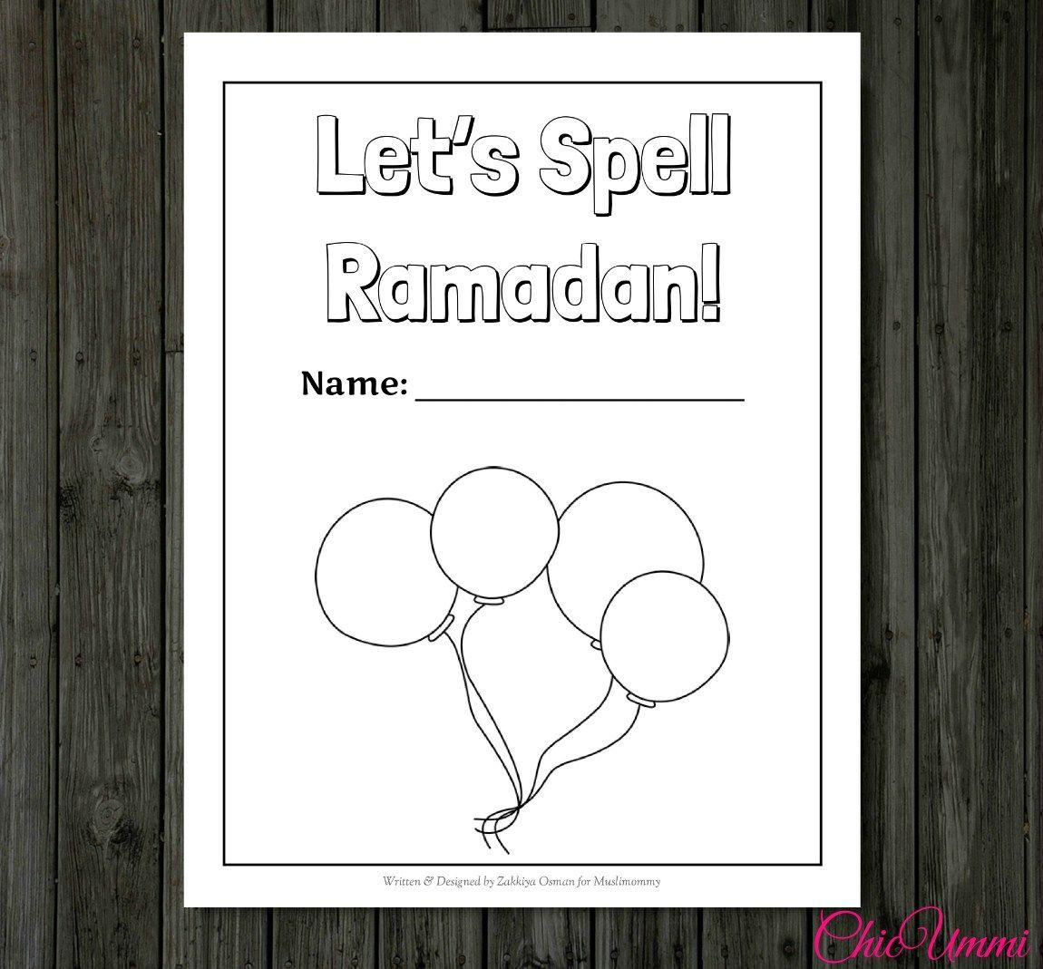 LetsSpellRamadan.jpg (1150×1069) Ramadan, Coloring