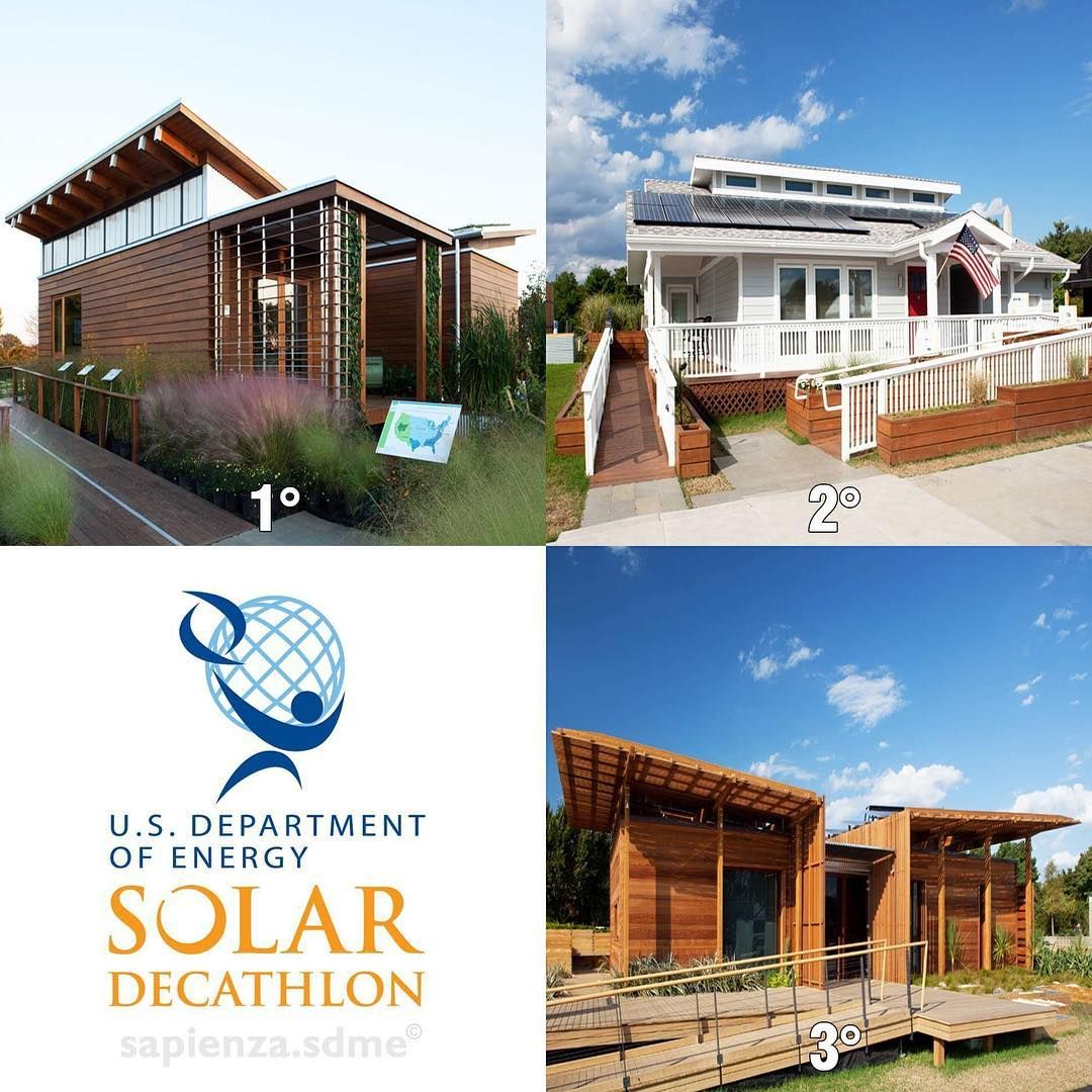 The sixth Solar Decathlon competition took place in 2011 in #Washington thanks to U.S. Department of Energy (DOE). The pictures show the first three #solarhouses classified in 2011: First place: @univofmaryland Second place: #PurdueUniversity Third place: @vicuniwgtn Keep following us to discover the other finalist projects of Solar Decathlon! #LearningFromThePast. Follow us on Twitter ReStart4SMART and on Facebook Team Sapienza Solar Decathlon Middle East 2018. #SolarDecathlon #sdme2018…
