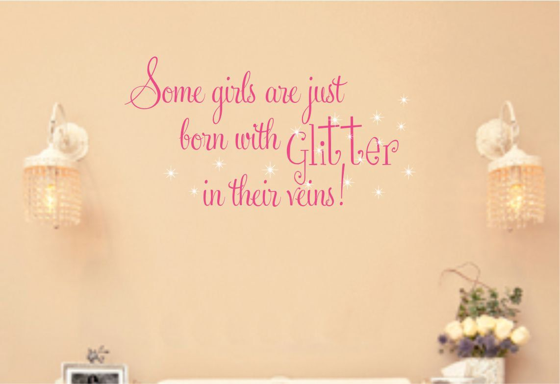 Girls Saying Wall Decal Baby Toddler Glitter Stars Vinyl Lettering ...