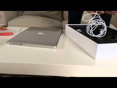 Macbook Pro Retina 15 Zoll Mid 2015 Unboxing Und First Boot Amd R9 M370x Macbook Pro Retina Amd Unboxing
