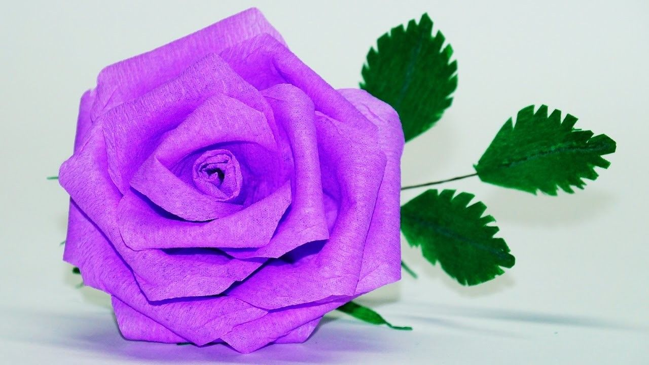 Flowers Making How To Make Rose Paper Flower Crepe Paper Rose