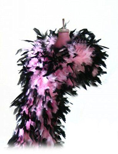 SACASUSA 100g Turkey Chandelle Feather Boas 6 Feet Long Beautiful Vibrant Color 20 Colors to Pick