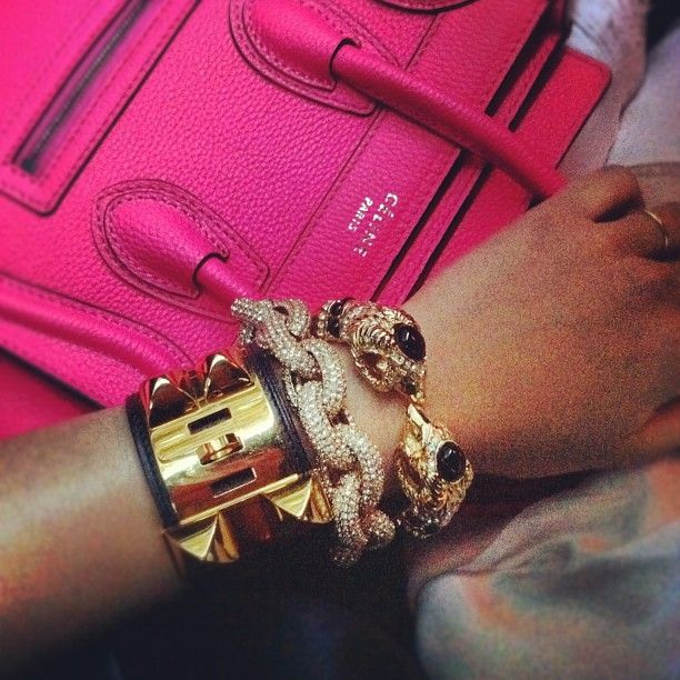 Céline bag & Hermès cuff - wish wish wish