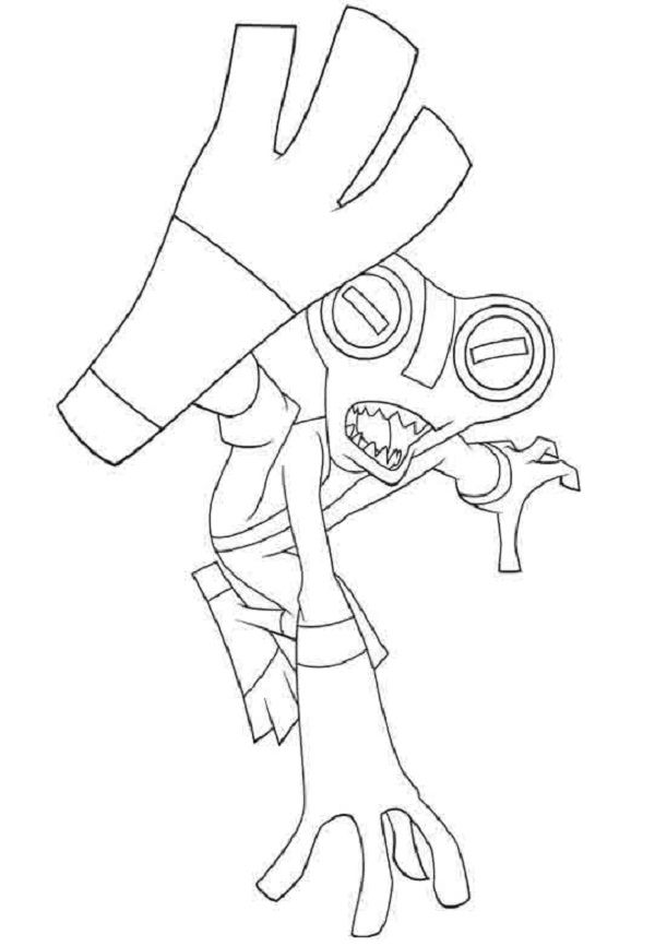 Ben 10 Grey Matter Coloring Pages