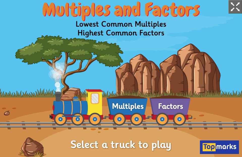 Multiples and Factors is a fun mental maths game for children, which  focuses on finding the Lowest C… | Factors and multiples, Common multiples, Math  games for kids