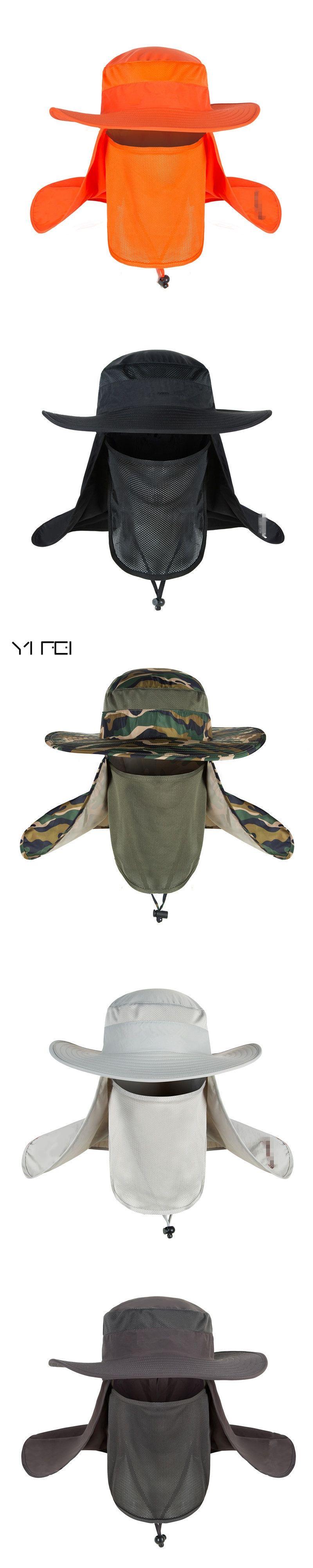 ccfc1a47edc YIFEI New Summer wind-proof Sun Hats SPF 30+ UV Protection Fishing Hat  Fisherman