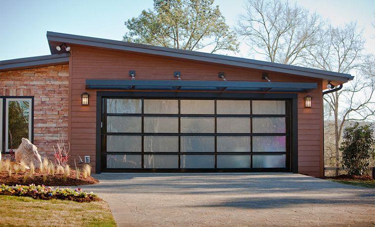 Aluminum Full View Black Mirrored Garage Doors Garage Design