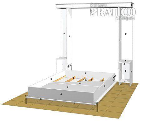 fabriquer un lit escamotable plan fabriquer lit. Black Bedroom Furniture Sets. Home Design Ideas