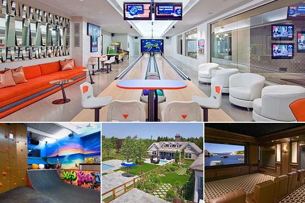 Extravagant Home Features Of The One Percent Extravagant Homes Finishing Basement Home Bowling Alley