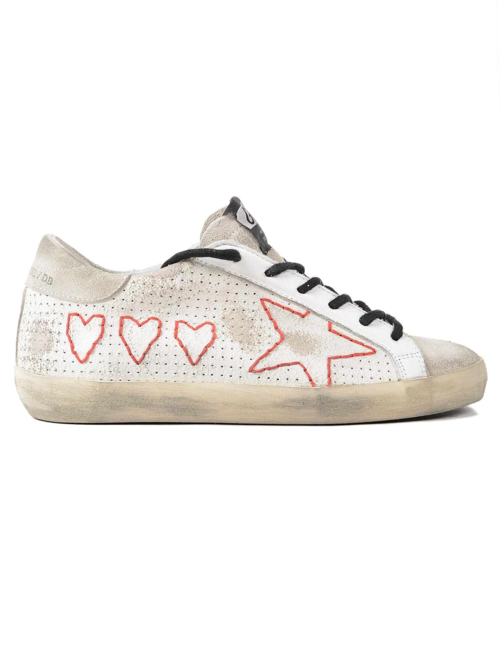 Sneakers Superstar Red Glitter Sand StarGolden Goose 24z9MKuw