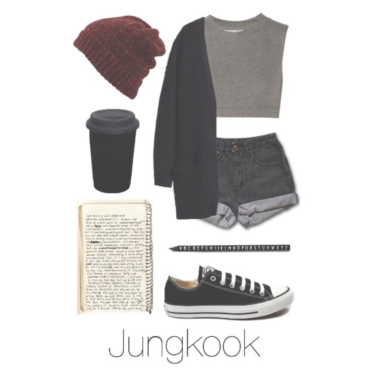 bts jungkook writing music outfit btsoufits k pop pinterest l ssige outfits l ssig und. Black Bedroom Furniture Sets. Home Design Ideas