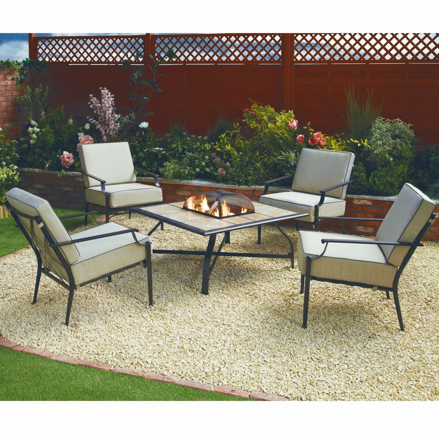 Fire pit dining set best of fire pit gravel area costco barrel gas