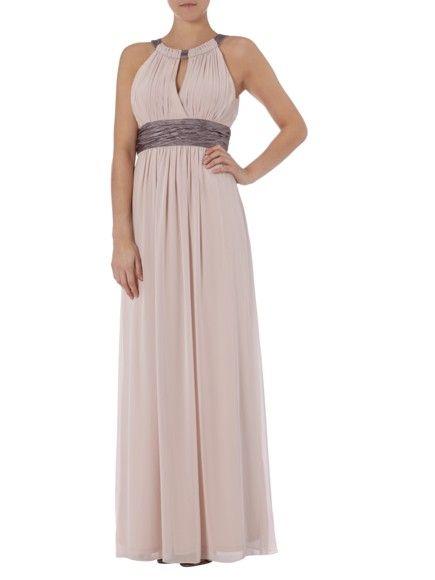 JAKES-COLLECTION Abendkleid mit Collierkragen in Rosé online kaufen ...