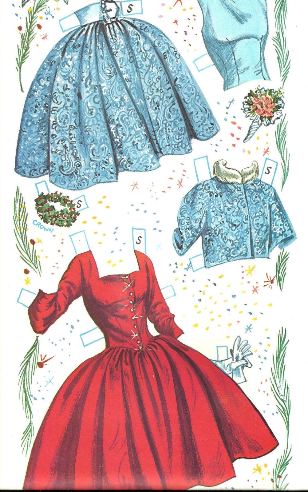 Vintage Uncut 1962 Prom Time Paper Doll Repro ...  |Everyday Paper Dolls Pattern