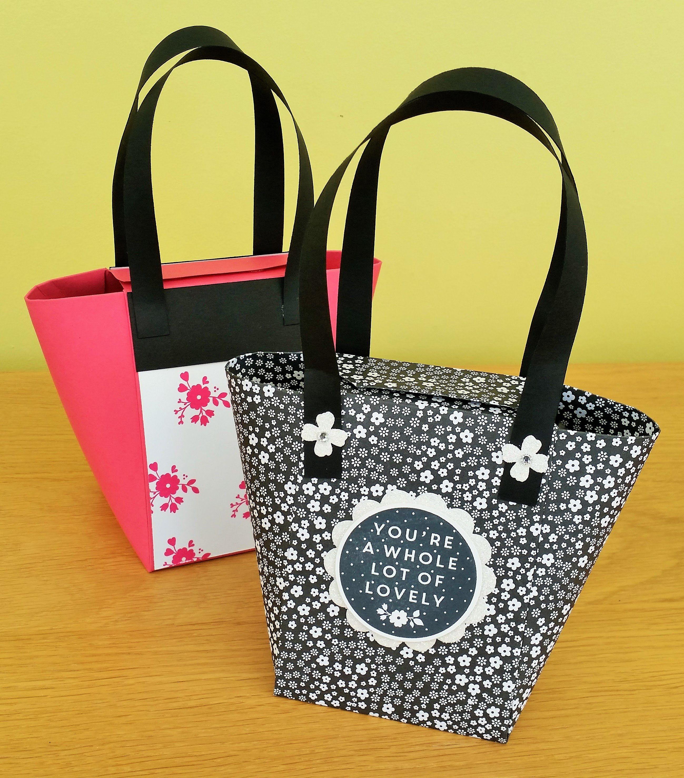 Gift box Punch Board Handbag | Boxes and Gifts Tutorials ...