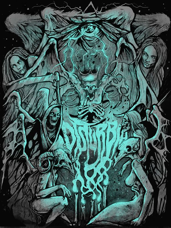 DISTURBIA CLOTHING - Electric Funeral - T-shirt design by GRINDESIGN - Mintees