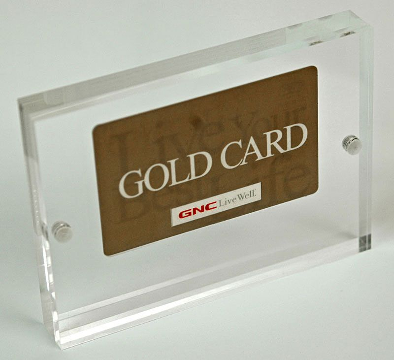 Acrylic Credit Card Frame. Lucite Credit Card Magnet Sandwich Frame ...