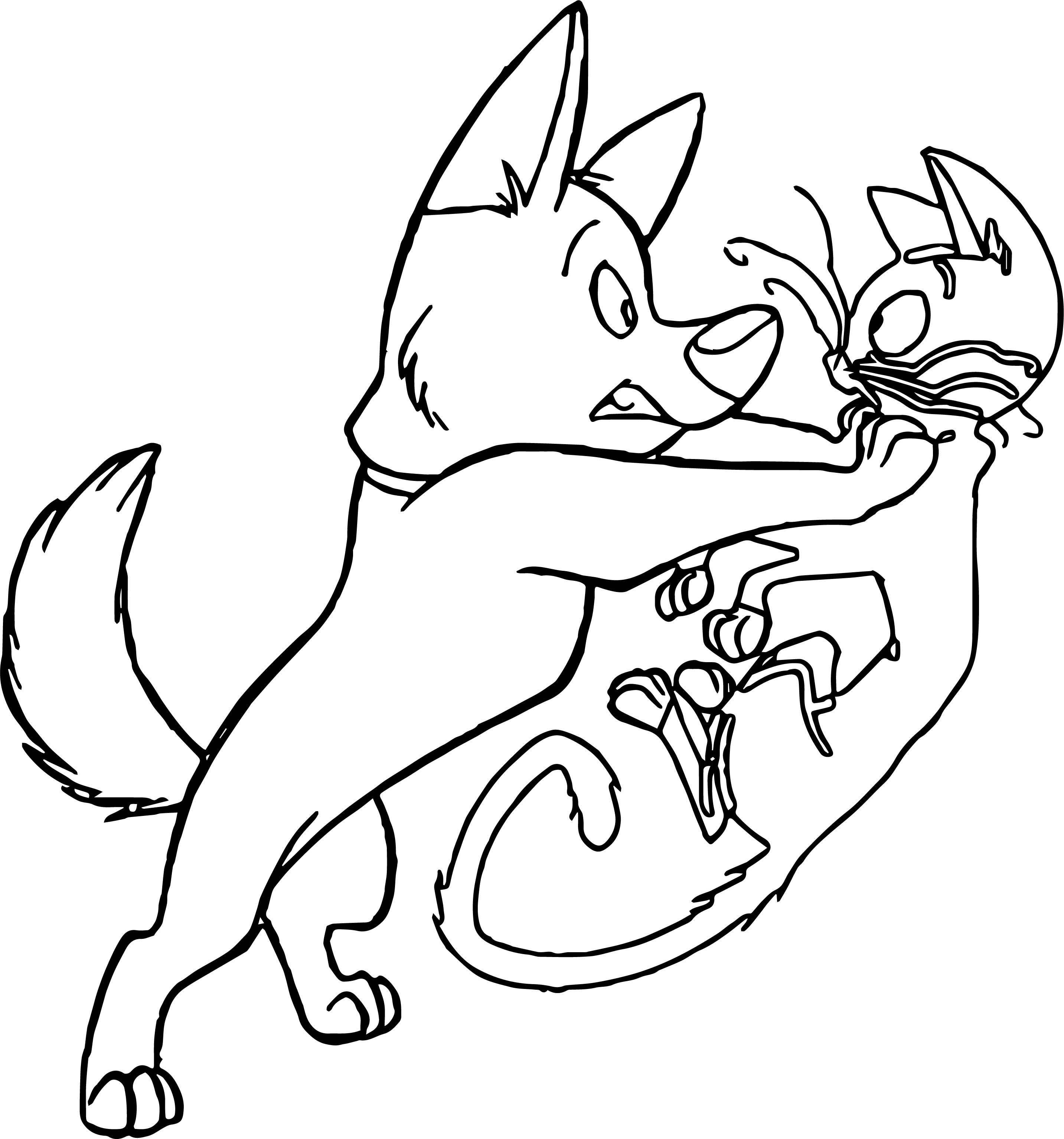 Cool Bolt Dog Cat Where Coloring Pages