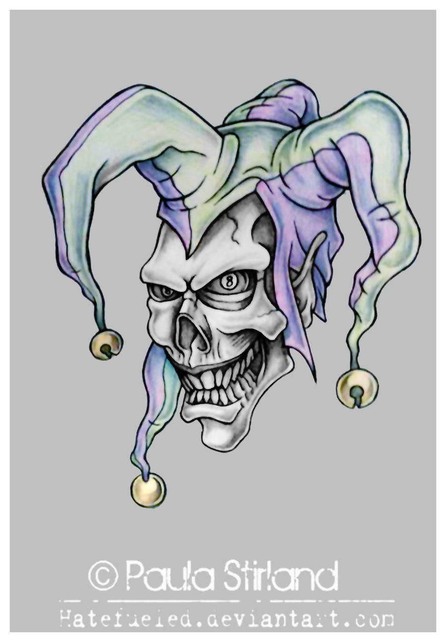 Evil Jester Tattoo : jester, tattoo, Photos, Cartoon, Jester, Tattoo, Tattoo,, Jester,, Skull