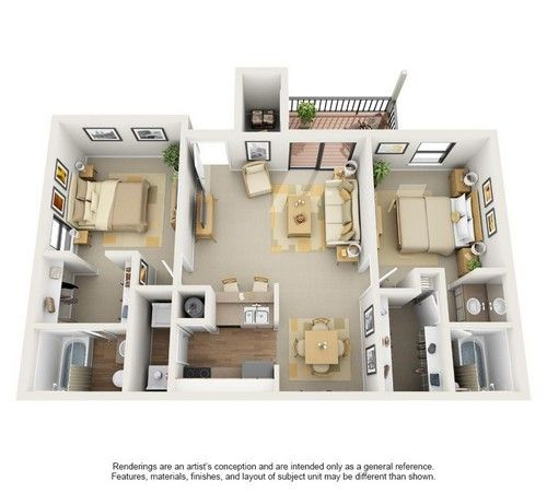 Two Bedroom Plan Destiny At Springs Colony Apartments Small House Design Plans Studio Apartment Floor Plans Sims House Design