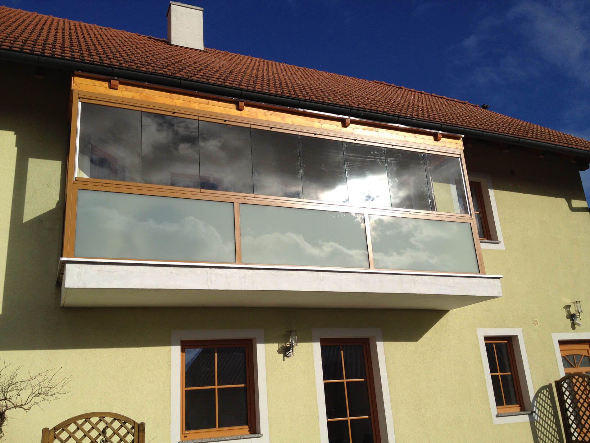 Faltfenster Wintergarten ~ Balkonverglasung mit sunflex sf glas faltfenster