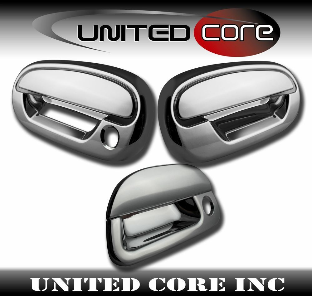 97 03 Ford F150 Door Handle Cover Chrome Tailgate Lever Cover Triple Chrome Ford F150 Ford F150