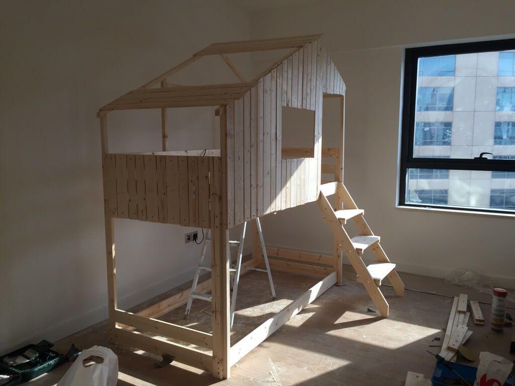 Make An Indoor Playhouse Bunk Bed Ikea Mydal Hack Diy  # Alinea Meuble Type Loft