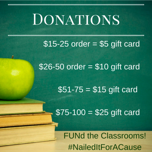 How much will the teachers earn? That all depends on YOU! Each purchase will benefit a classroom - and how much depends on the purchase amount! https://www.facebook.com/events/481557445376694/