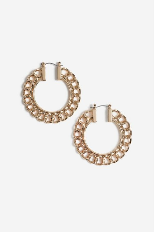 7014df880efb7 Chain Hoop Earrings in 2019 | Products | Jewelry, Hoop earrings ...