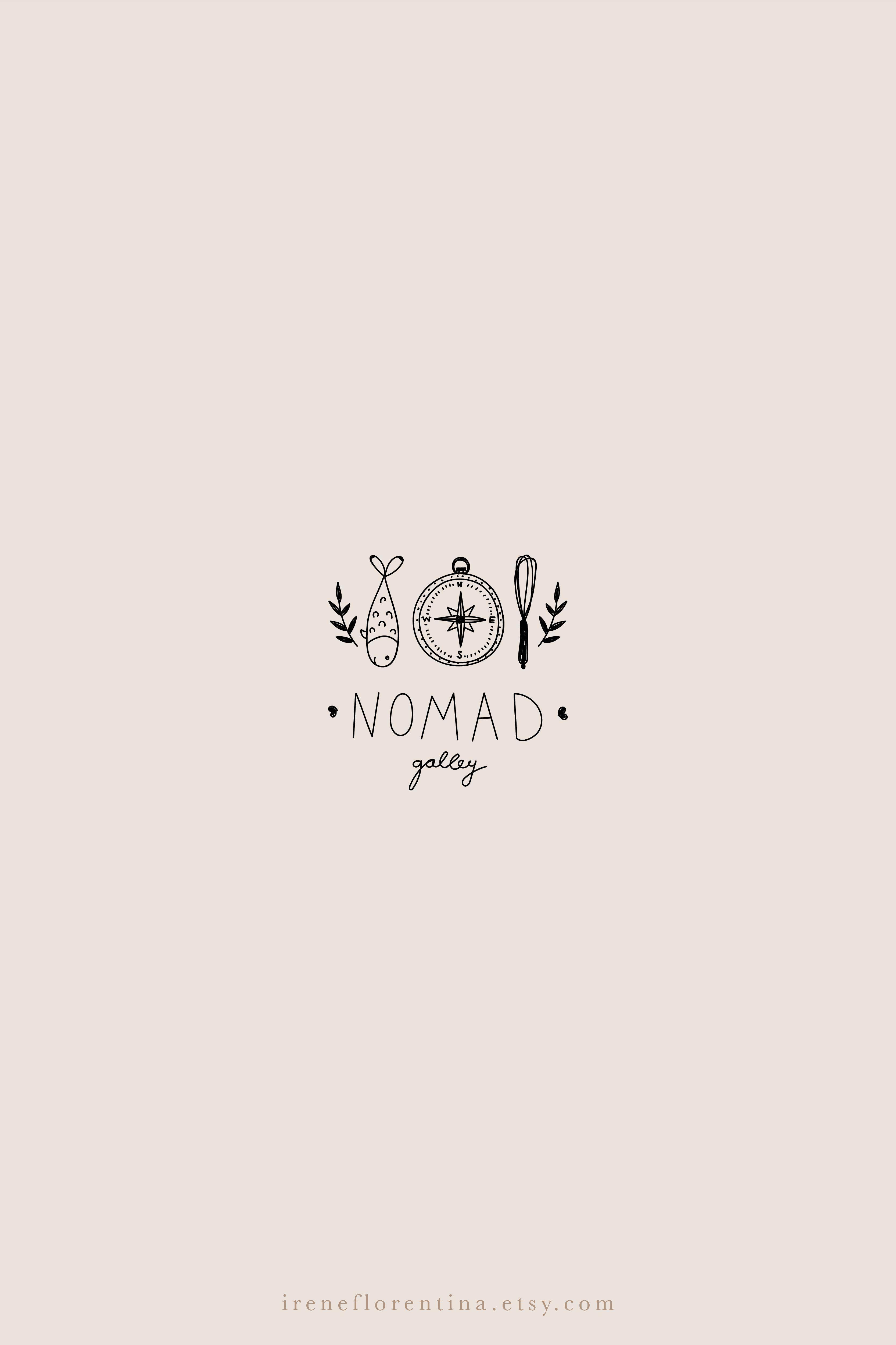 Hand Drawn Rustic Organic Logo Design Custom Branding For This