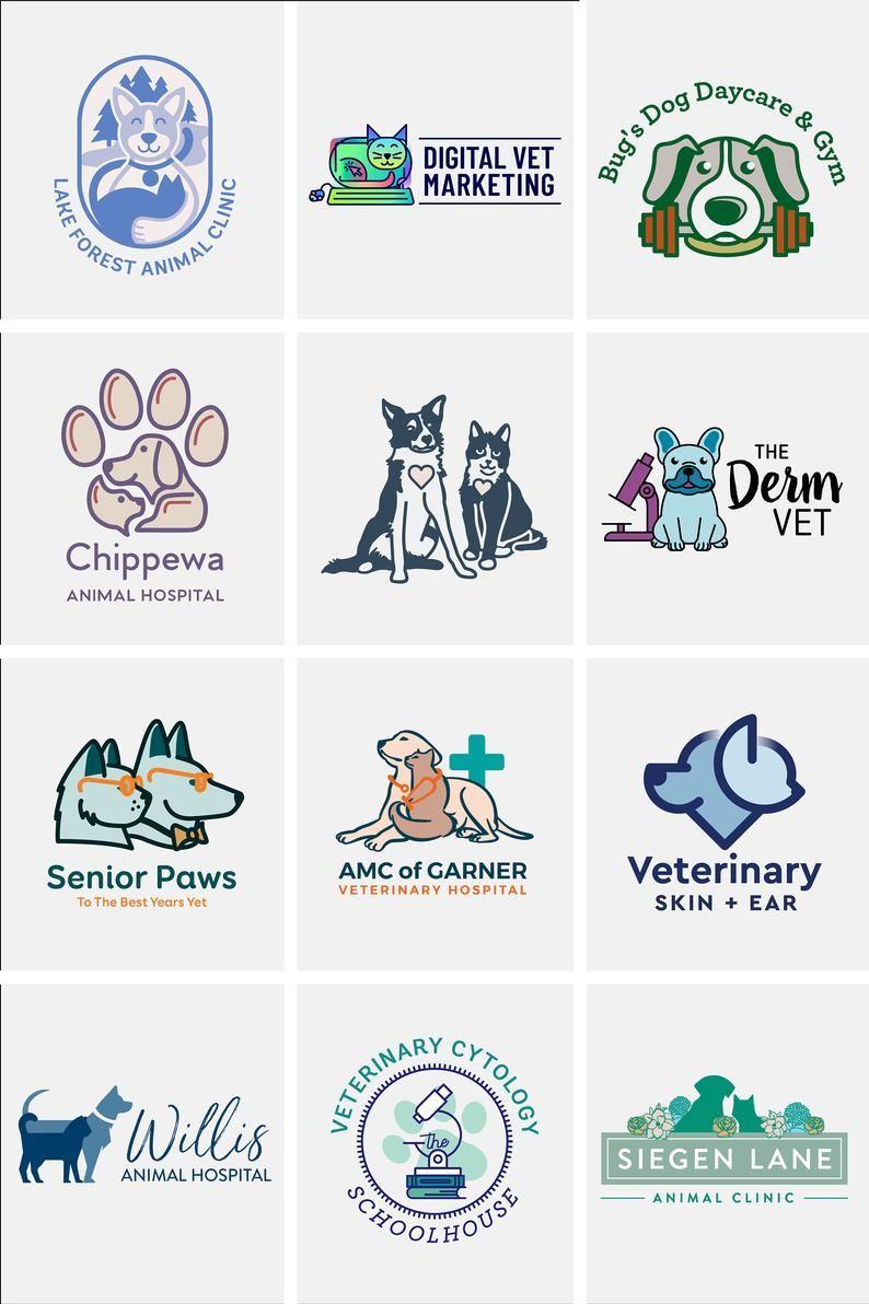 Dog Logo Design Cat Logo Design Logo Design Custom Pet Etsy In