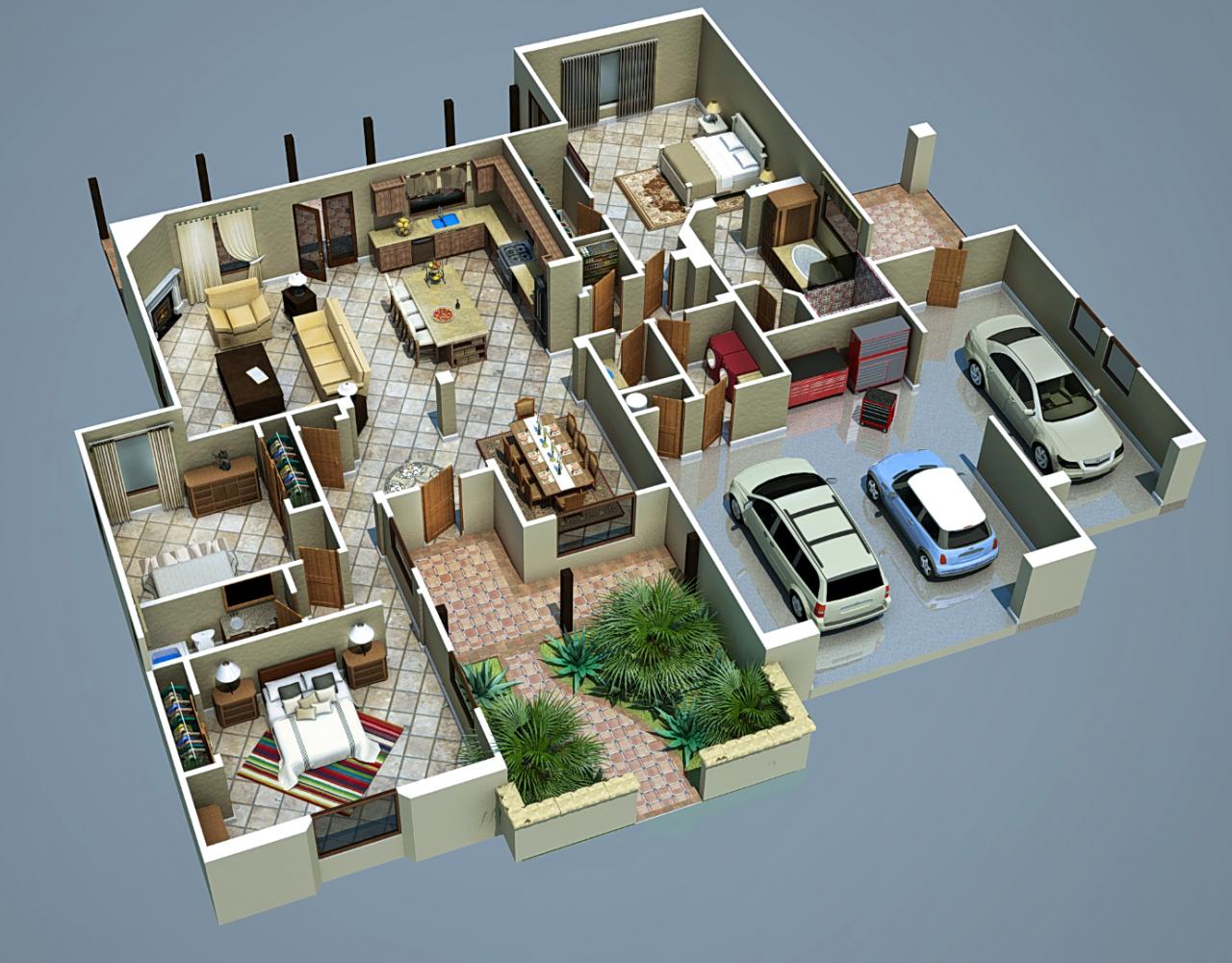 3d floor plan google zoeken home plan pinterest. Black Bedroom Furniture Sets. Home Design Ideas