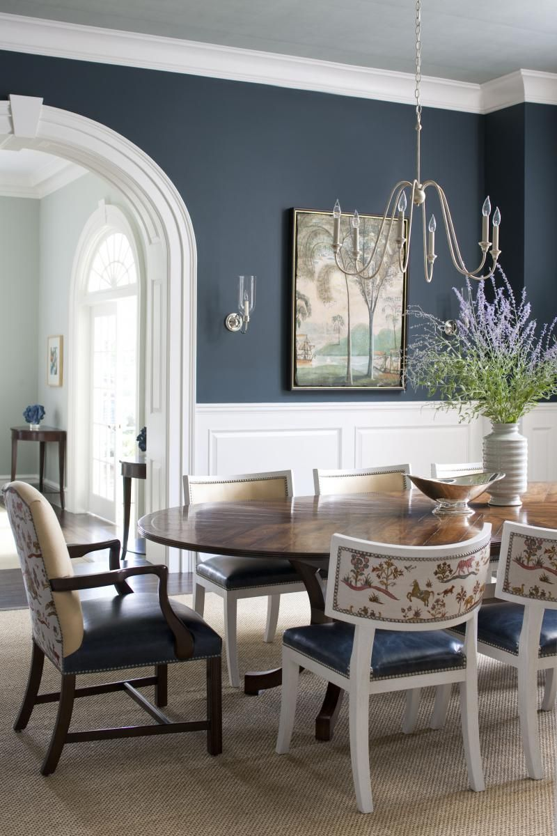 Design in depth go for the gray dining room blue - Room colour painting ideas ...