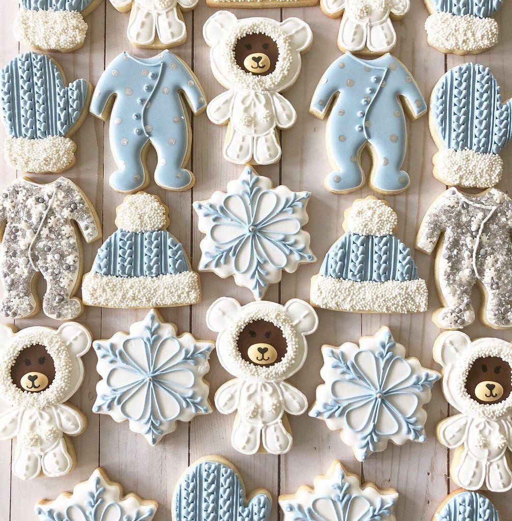Photo of Two Dozen Winter Wonderland themed Sugar Cookies