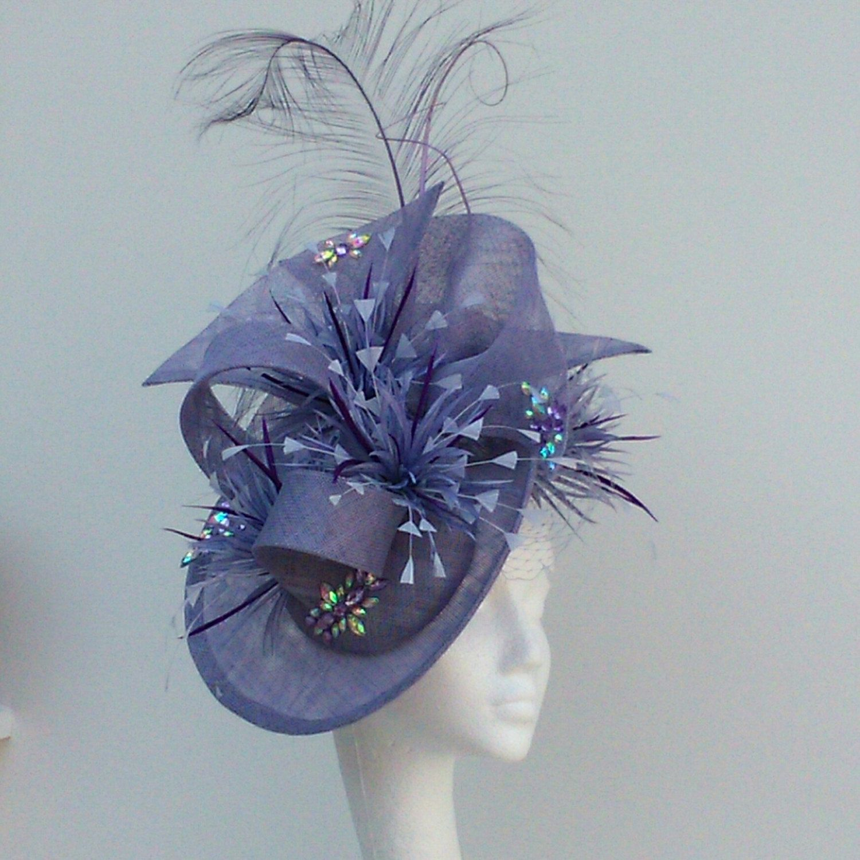 Stunning Fascinator In Cornflower Blue. Weddings, Mother