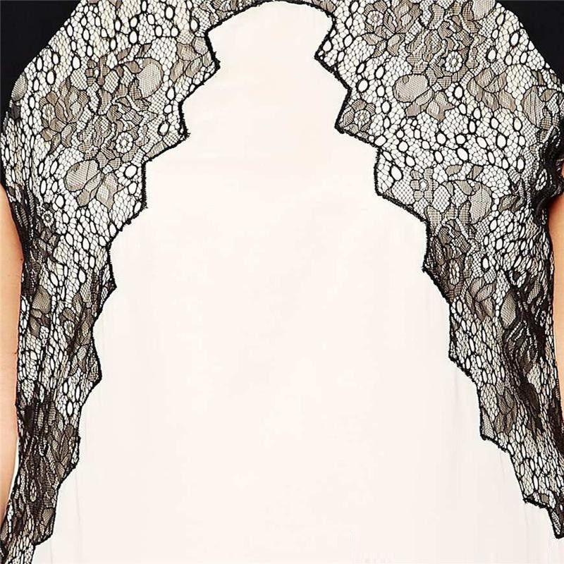 """BignBeautiful Series"" Lace Patchwork Sleeveless Mini Length Slim Fit Dress"