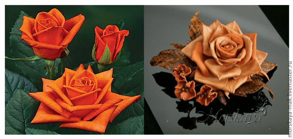 """Купить Брошь-заколка """"Осенние мотивы"""" - рыжий, morskaya-mak, брошь-заколка, брошь роза"""