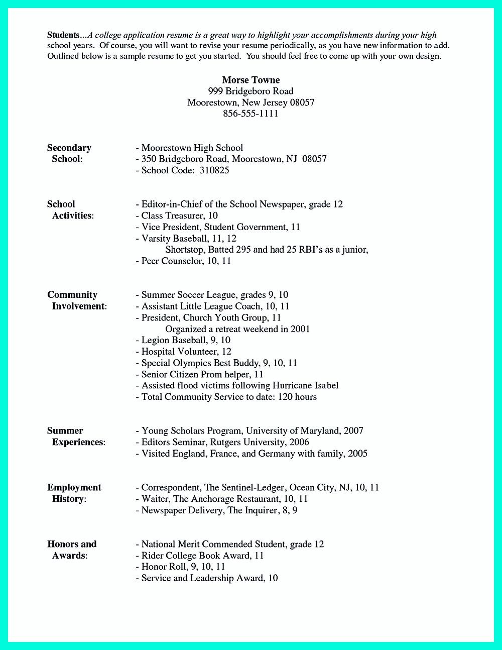 Terrific Resume Template For High School Students With For College Student Resume Template M College Application Resume Student Resume Template Resume Examples