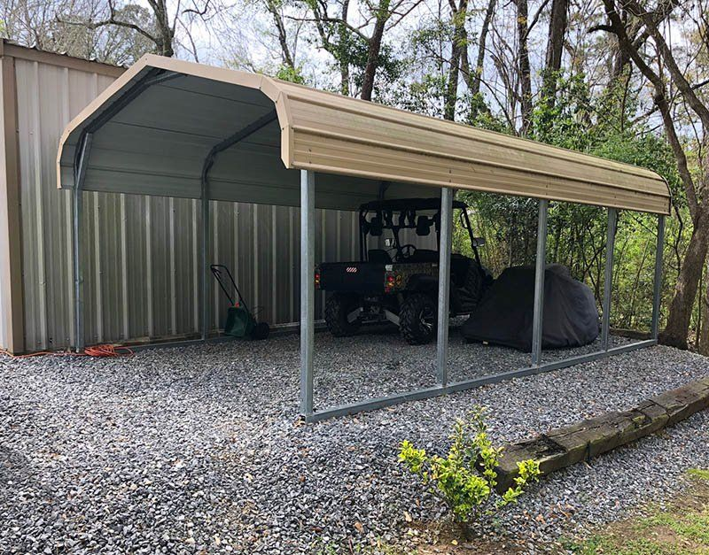 8 Ways To Utilize A Carport That Doesn T Involve A Car Metal Carports Carport Steel Carports