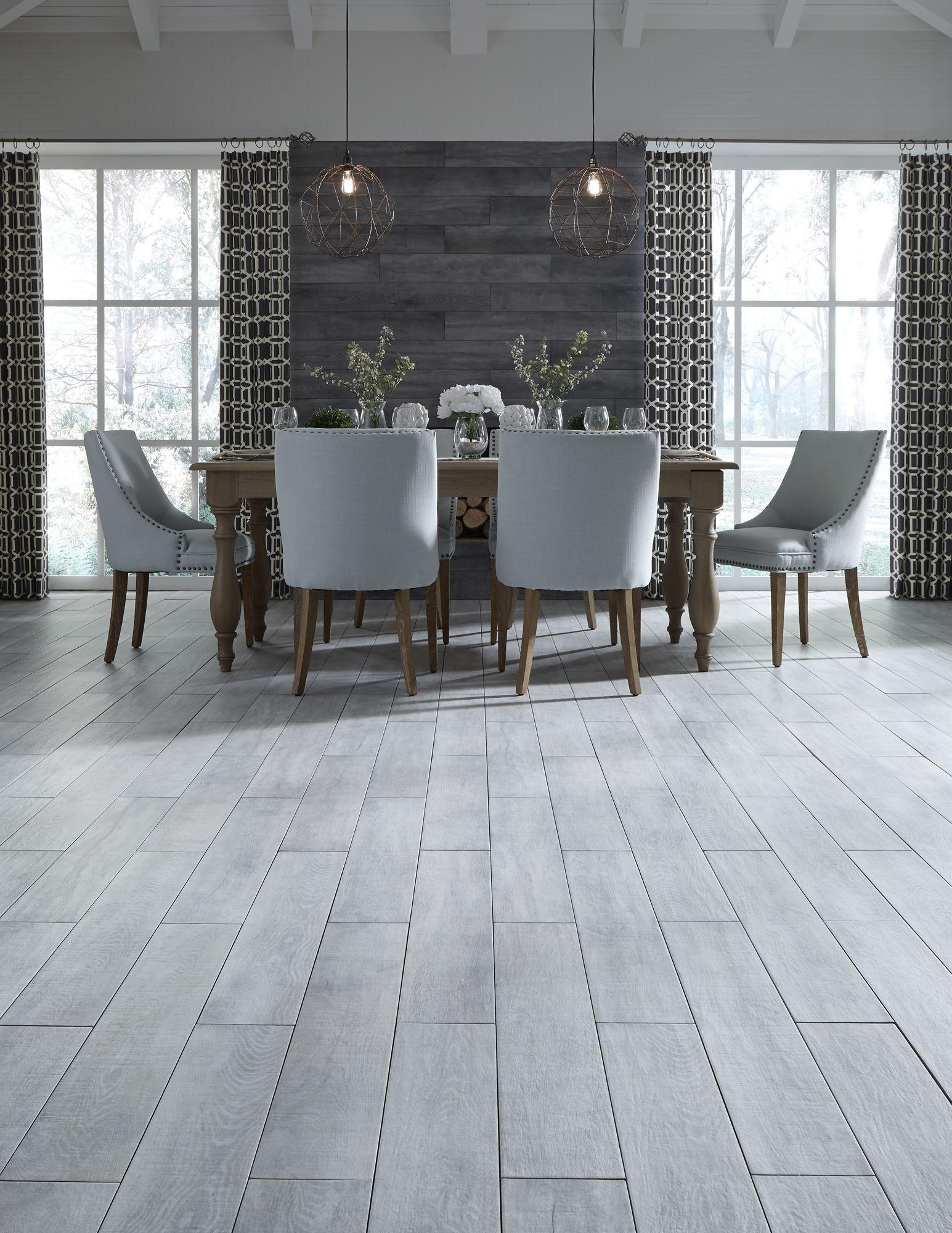 Black tile flooring for elegant look - Waterproof Wood Look Tile Gives Any Room The Elegant Look Of Hardwood Styles Like