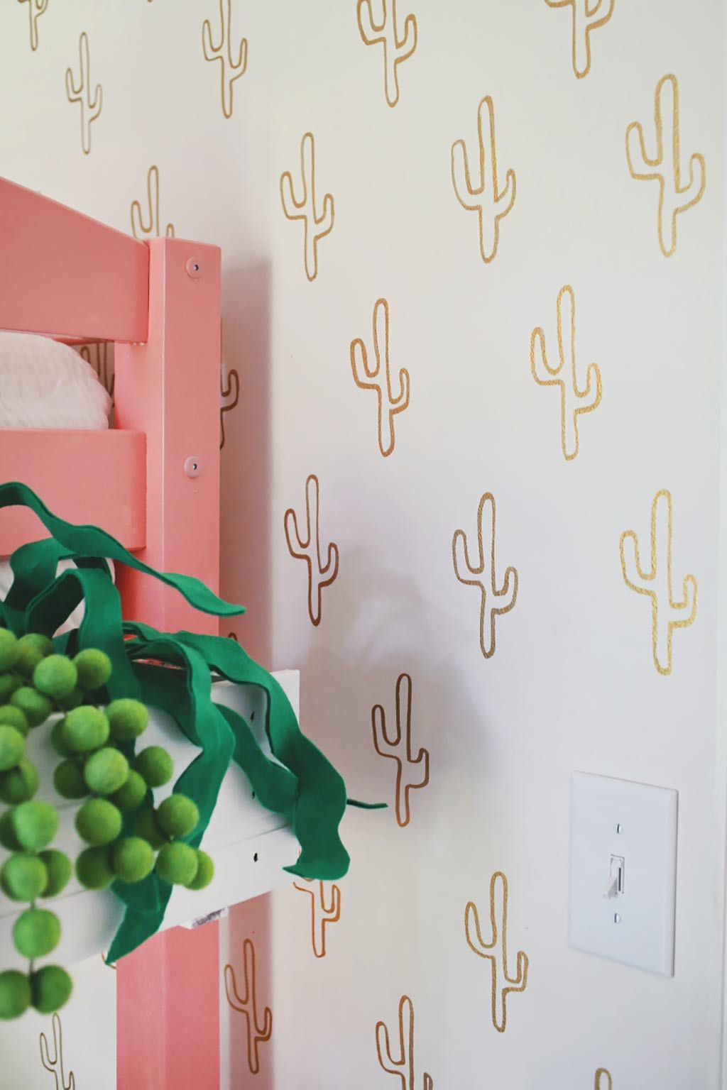 Papel Pintado Cactus Boho Chic Una Habitación De Invitados Family Friendly Kids