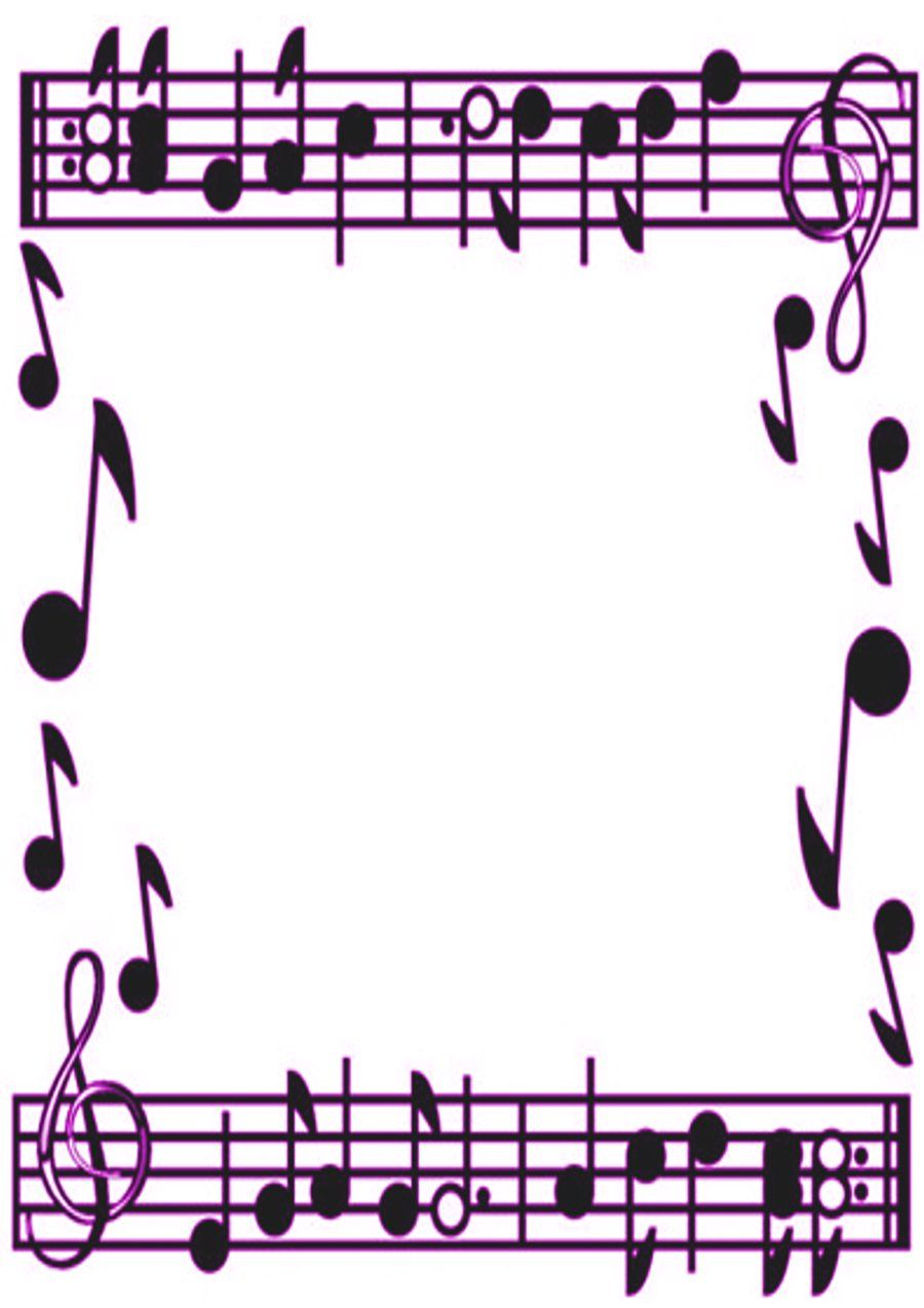 Purple Music Border by KirstyLouiseWilson.deviantart.com on ...