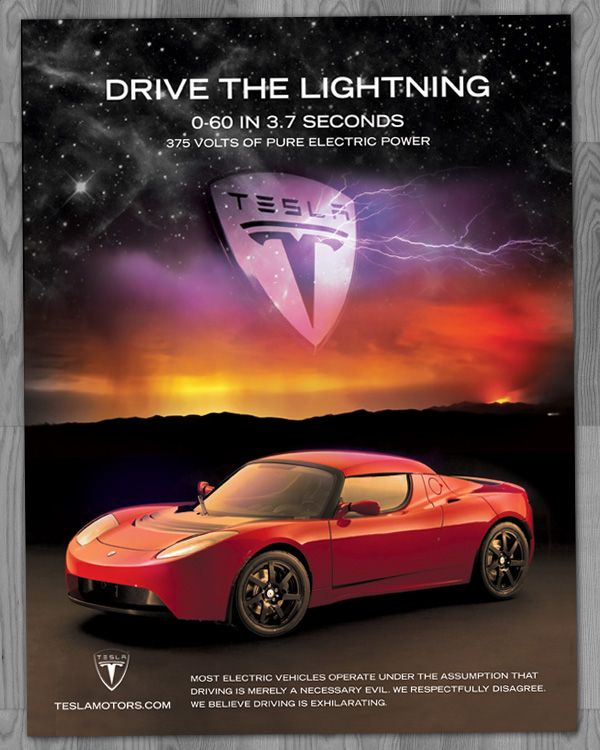 Discover Ideas About Tesla Roadster Pinterestcom: Tesla Fan's Ad: Drive The Lightening. For More, Check Out
