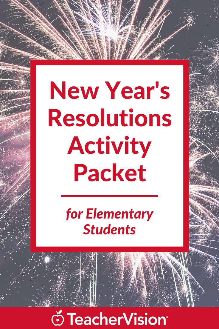 New Year's Resolutions Activity Packet for Elementary