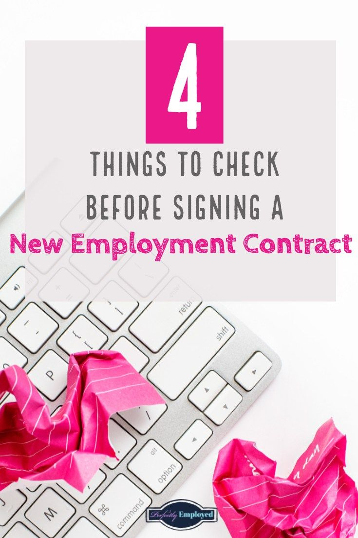 4 things to check before signing a new employment contract